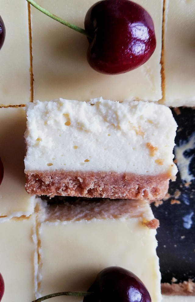 cheesecake bar closeup